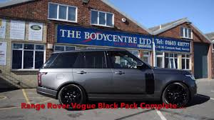 black chrome range rover range rover vogue having the black pack conversion the bodycentre