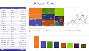 halloween color palette themes gallery microsoft power bi community