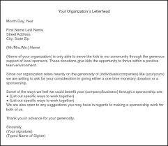 doc 732894 letter of sponsorship template u2013 sponsorship proposal