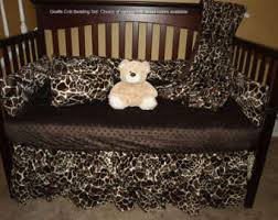 Animal Print Crib Bedding Sets Giraffe Crib Bedding Etsy
