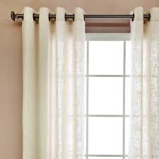 natural linen l shade amazon com faux linen grommet curtain two 50 w x 84 l pair