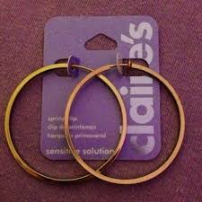 clip on hoop earrings free s clip hoop earrings earrings listia
