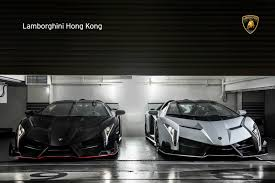 Lamborghini Veneno White - two new lamborghini veneno roadsters delivered in hong kong gtspirit