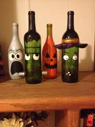 halloween glass jars painted wine bottle decor halloween diy origami owl independent