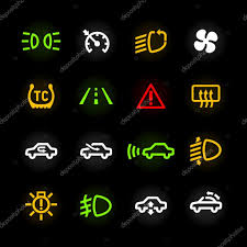 car dashboard car dashboard icons u2014 stock vector alhovik 69936029
