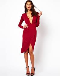 plunge dress asos asos plunge midi dress