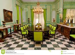 beautiful dining room with luxurious old furniture royalty free