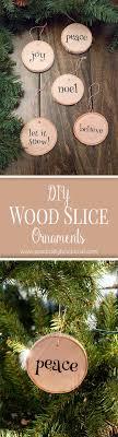 diy wood slice ornaments diy wood ornament