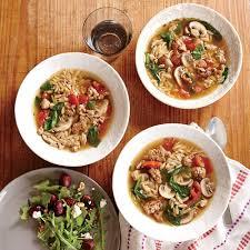 italian thanksgiving menu italian turkey and orzo soup recipe myrecipes