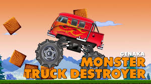 monster truck bigfoot video monster truck video monster truck destroyer video for children