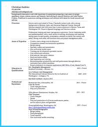 Resume Sample Management Skills by Excellent Culinary Resume Samples To Help You Approved