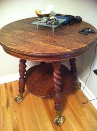 claw foot table with glass balls in the claw glass ball claw foot round table antique appraisal instappraisal