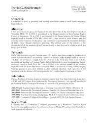 Sample Resume For Computer Science Graduate by Sample Pastor Resume Resume For Your Job Application
