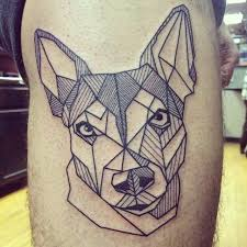 geometric tattoo dog 1000 geometric tattoos ideas