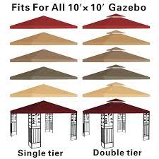 Portable Patio Gazebo by Replacement Canopy Top 10x10 U0027 Patio Pavilion Gazebo Sunshade