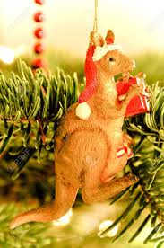 tree decoration australian kangaroo stock photo picture