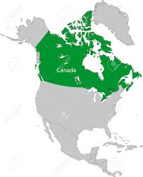 North America Continent Map by Location Of Canada On The North America Continent Royalty Free