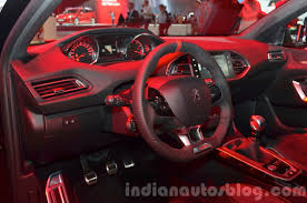 peugeot 308 gti peugeot 308 gti interior at iaa 2015 indian autos blog