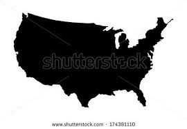us vector map free us map silhouette vector