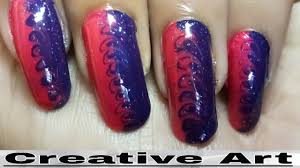 latest creative nail art designs at home youtube