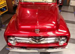 candy apple 1955 ford f100 with black label diamond paint coating