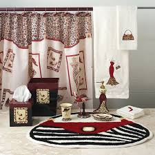 Red Bathroom Accessories Sets by Awesome Cheetah Bathroom Accessories Sets Animal Print Bathroom