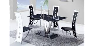 Dining Room Furniture Usa D551dt D803dc Bl Glass Dining Table 4 Chairs 5pc