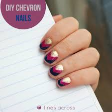 diy chevron nails lines across