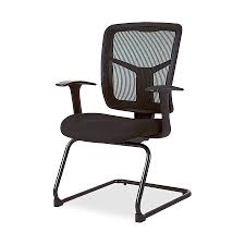 lorell 86202 86000 series mesh side arm guest chair fabric