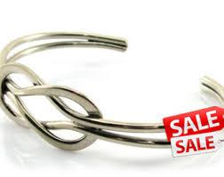 knot bracelet silver images Silver knot bracelet etsy jpg