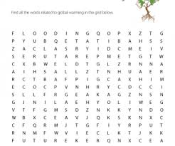 Global Warming Worksheet Warming Worksheet Word Search