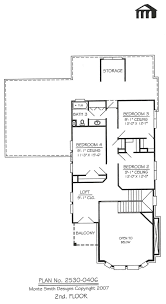 2530 0406 square feet 4 bedroom 2 story house plan