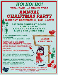 christmas party invitation 2013 stmaryarmenianchurch