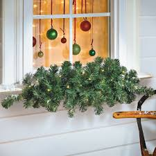 trim a home outdoor christmas decorations pre trimmed with 35 warm white led lights this cordless indoor