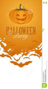 pumpkin halloween party flyer invitation stock vector image