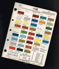 1974 gmc chevy truck color chip paint sample brochure chart