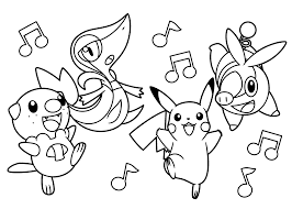 sweet looking pokemon print pikachu coloring pages online free
