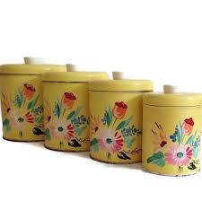 28 tin kitchen canisters vintage set daher tin kitchen