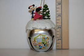 mickey mouse sleigh bell ornament mistletoe memories minnie