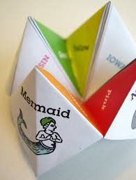 how to make a paper fortune teller i inspire d