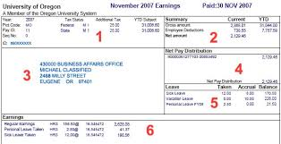 Payroll Statement Template by Exle Earning Statement Business Affairs