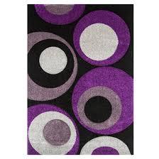Black Circle Rug Purple Circle Rug Instarugs Us