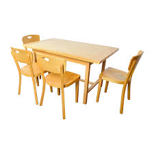 68 off ikea ikea side extendable dining table and four chairs