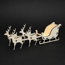 santa sleigh and reindeer santa sleigh christmas decorations trees ebay