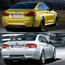 comparison f82 m4 versus e92 m3 coupe updated with real life pics