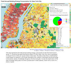 Map Of New York And Manhattan by Model Created To Map Energy Use In Nyc Buildings The Fu