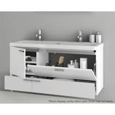 modern 47 inch bathroom vanity set with ceramic sink larch