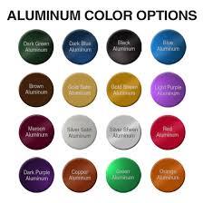size color aluminum tags u0026 nameplates naptags com