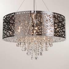 Laser Cut Lamp Shade Uk by Ashley Pendant Ceiling Light Dual Mount Drum 9 Bulb Chrome