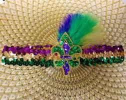 mardi gras headbands mardi gra etsy